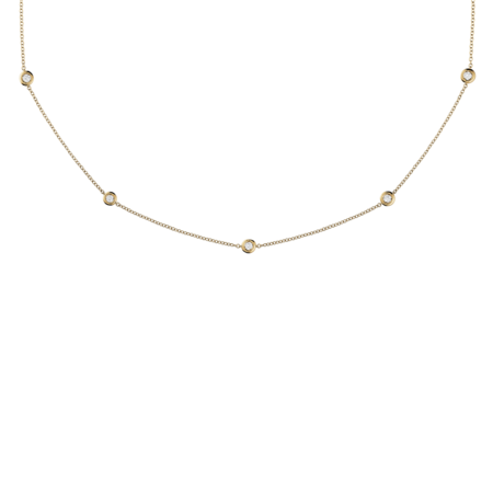 Diamond Necklace Circuit 0.10 carat in Yellow Gold