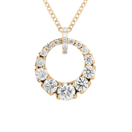 Diamond Necklace I in Rose Gold