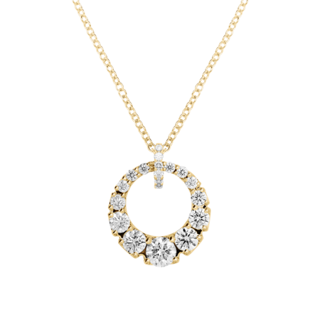 Diamond Necklace I in Yellow Gold