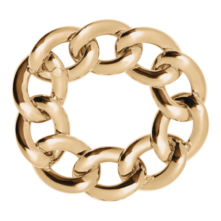 Gold Bracelet V in Rose Gold