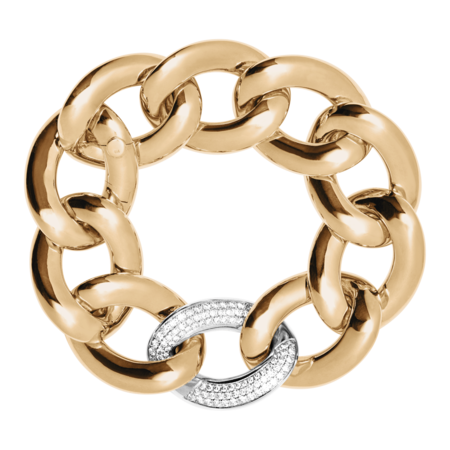 Gold Bracelet with Diamonds in Rose Gold