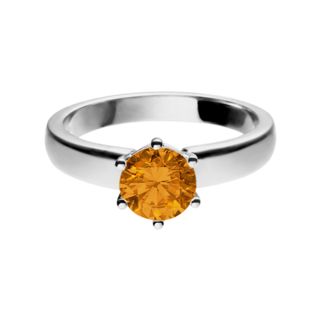 Malmö Madeira Citrine orange in Platinum