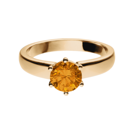 Malmö Madeira Citrine orange in Rose Gold