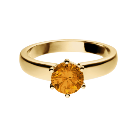 Malmö Madeira Citrine orange in Yellow Gold