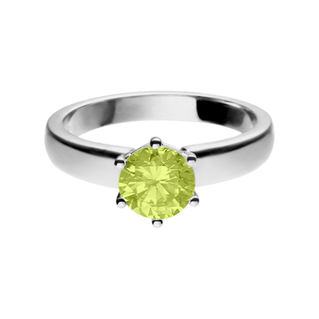Malmö Peridot green in White Gold