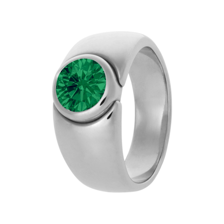 Mantua Emerald green in Platinum
