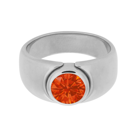 Mantua Fire Opal orange in Platinum