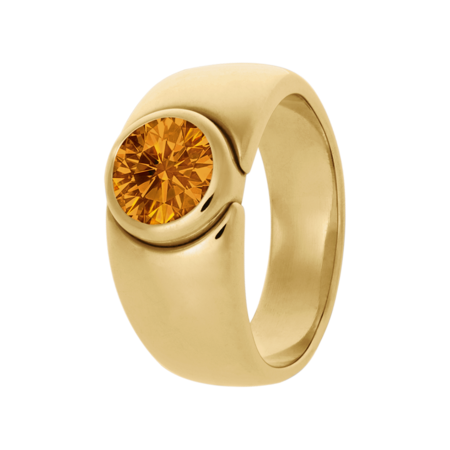 Mantua Madeira Citrine orange in Yellow Gold