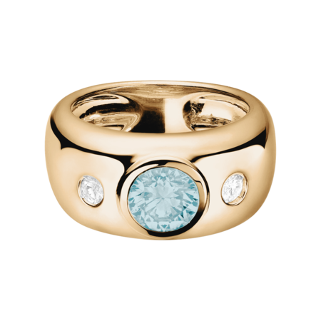 Naples Aquamarine blue in Rose Gold