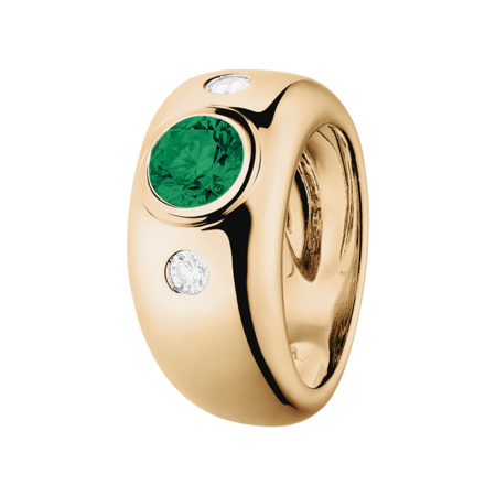 Naples Emerald green in Rose Gold
