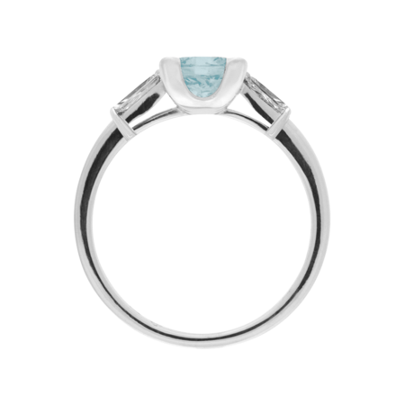 Paris Aquamarine Blue in Platinum