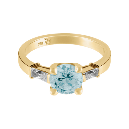 Paris Aquamarine Blue in Yellow Gold