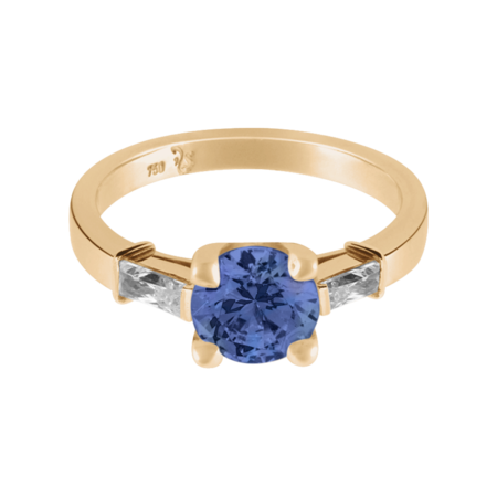 Paris Tanzanite blue in Rose Gold
