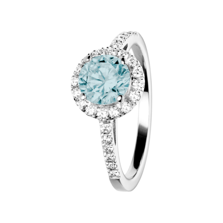 Prague Aquamarine Blue in Platinum