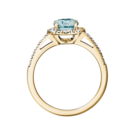Prague Aquamarine Blue in Yellow Gold