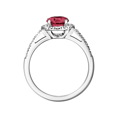 Prague Ruby red in White Gold