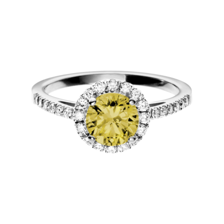Prague Sapphire yellow in Platinum