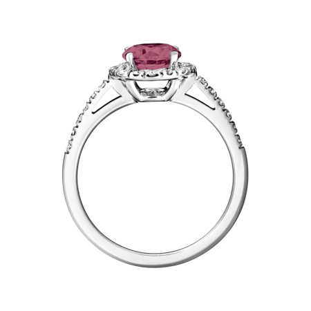 Prague Tourmaline pink in White Gold