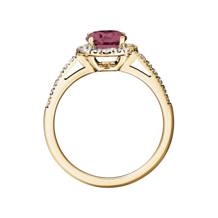 Prague Tourmaline pink in Yellow Gold