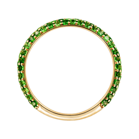 Ring Couleur Vert in Yellow Gold
