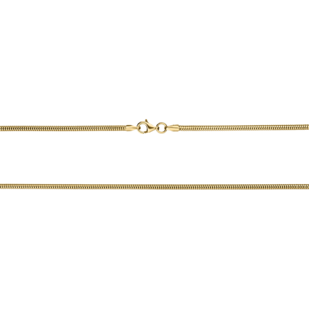 Snake Chain Necklace in Yellow Gold