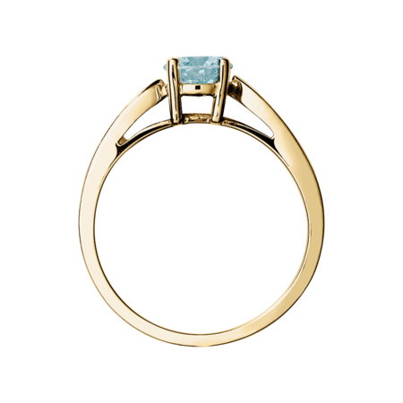 Vancouver Aquamarine Blue in Yellow Gold