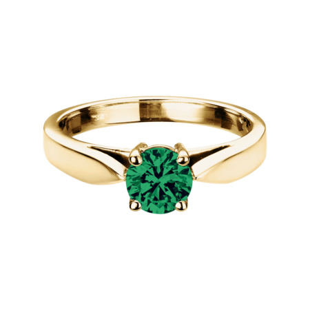 Vancouver Emerald green in Yellow Gold