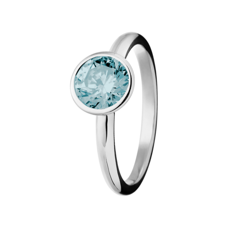 Vienna Aquamarine Blue in Platinum