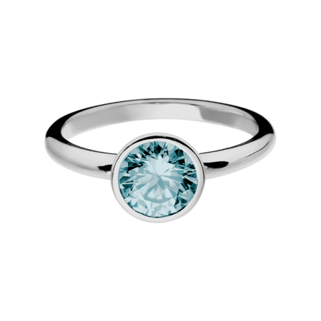 Vienna Aquamarine Blue in White Gold