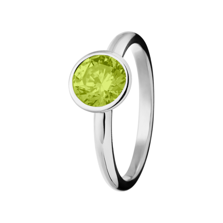 Vienna Peridot green in White Gold