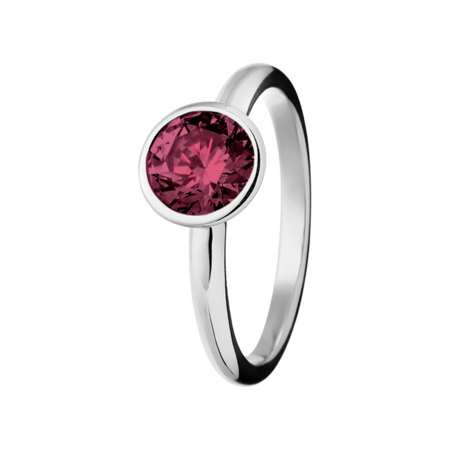 Vienna Rhodolite red in Platinum