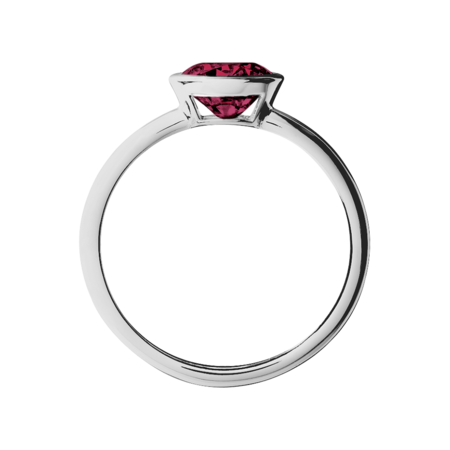 Vienna Rhodolite red in White Gold