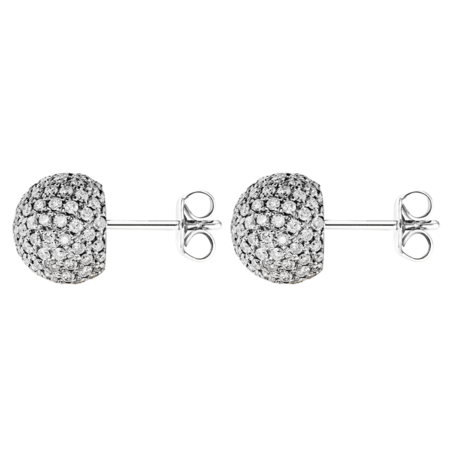 &-Boucles d'oreilles Diamant in Or gris