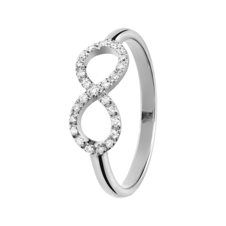 Bague Enchanté Infini in Or gris