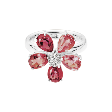 Bague Flowers Tourmaline in Or gris