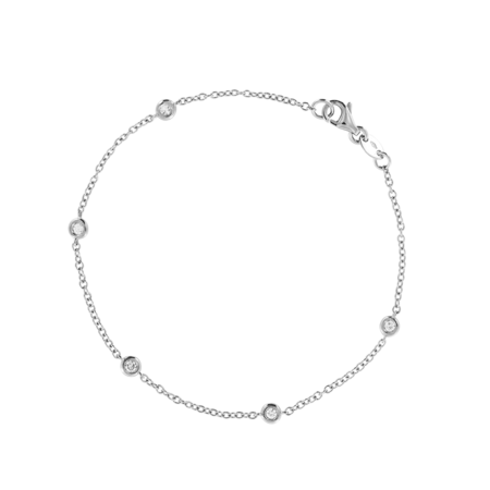 Bracelet Circuit 0.03 carat in Or gris