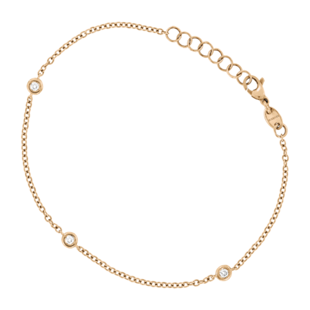 Bracelet Circuit 0.10 carat in Or rose