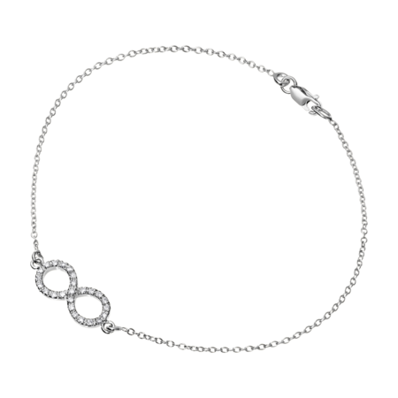 Bracelet Enchanté Infini in Or gris