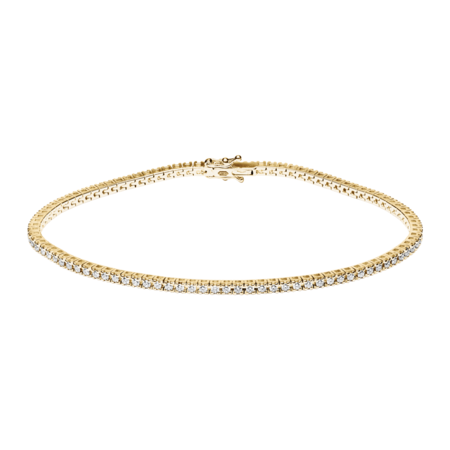 Bracelet Tennis 0,95ct in Or jaune