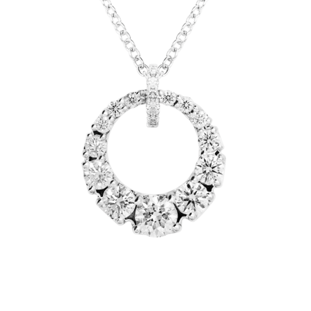 Collier Diamant I in Or gris