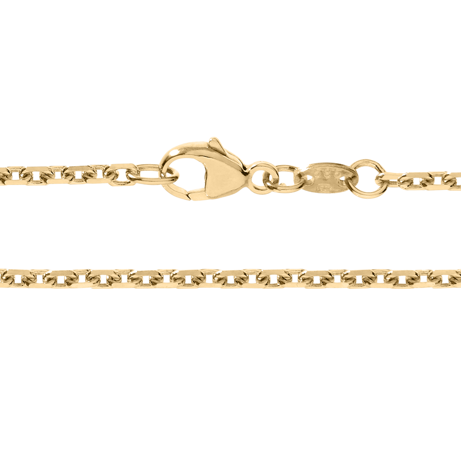 Anchor Chain Diamond Cut in Rose Gold