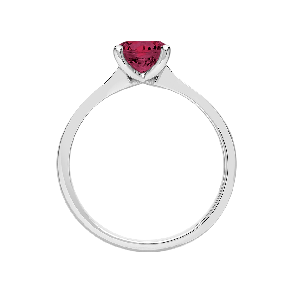 Basel Rhodolite red in Platinum