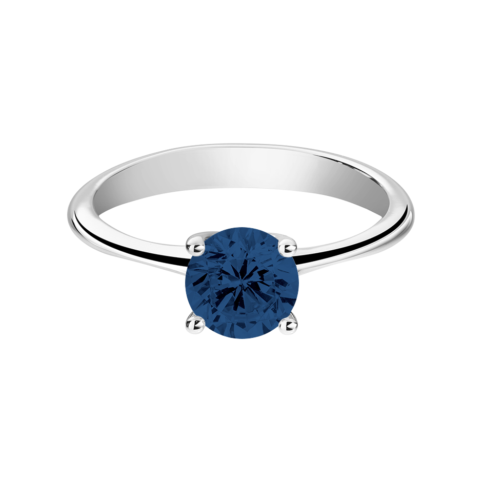 Basel Sapphire blue in White Gold
