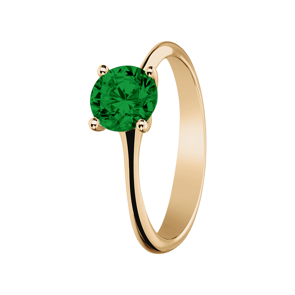 Basel Tourmaline green in Rose Gold