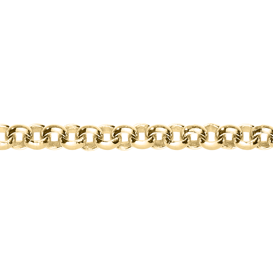 Belcher Chain Necklace in Yellow Gold