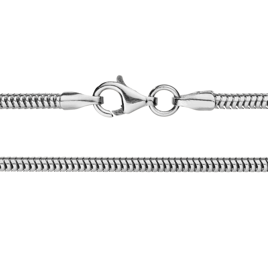 Chaîne maille serpent in Or gris