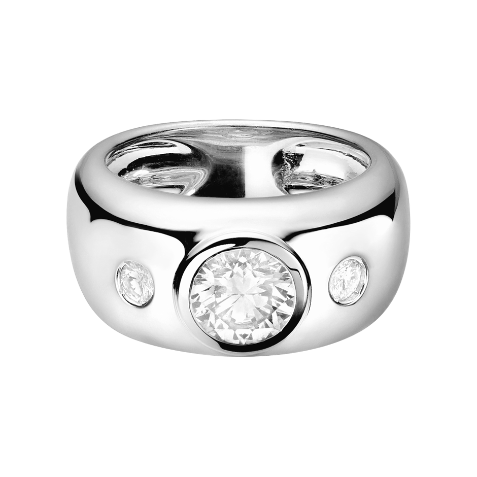 Diamond Ring Naples 1 carat in Platinum