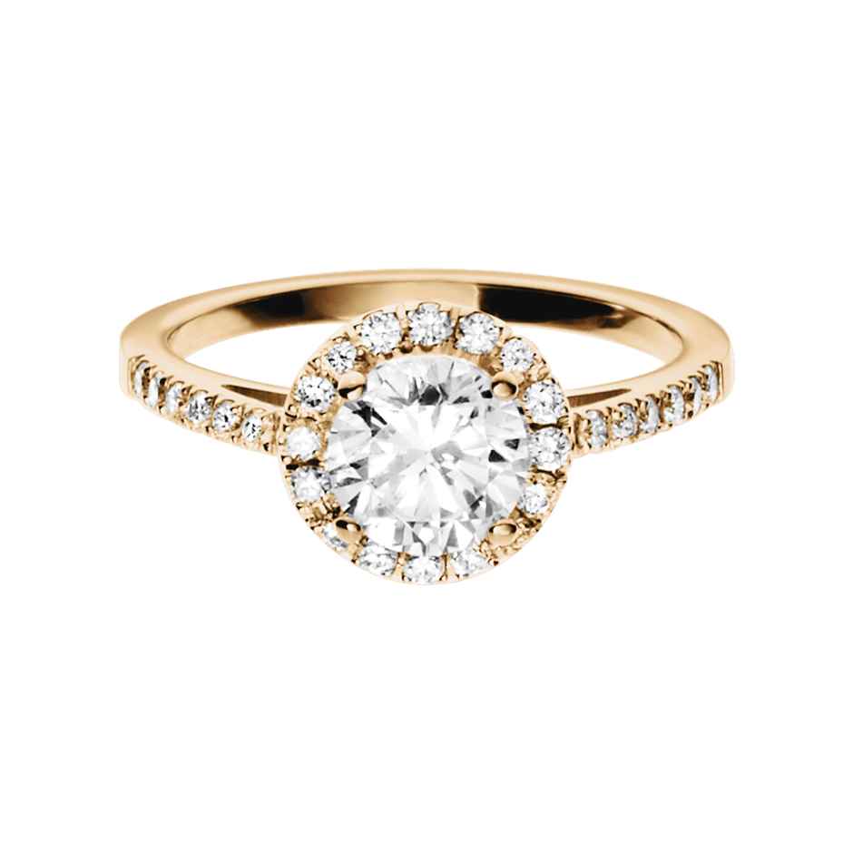 Diamond Ring Prague 0.75 carat in Rose Gold