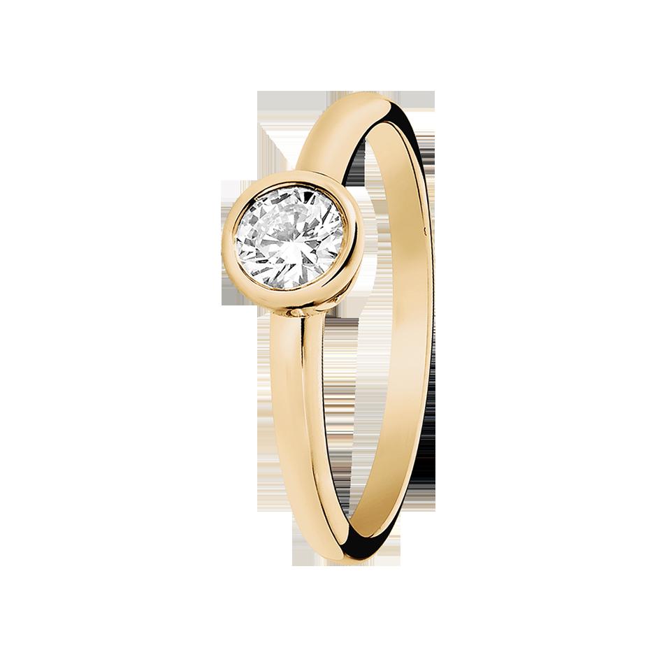 en karat diamant ring