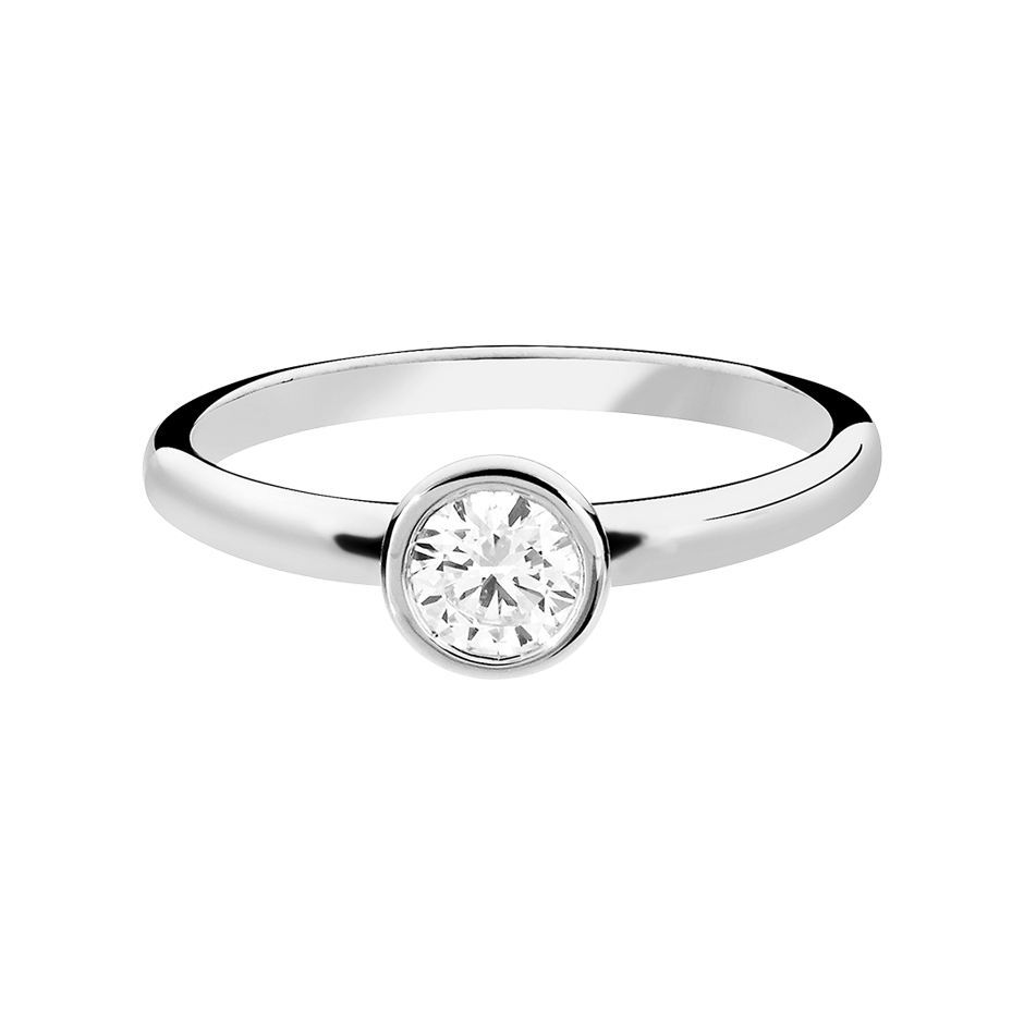 Diamond Ring Vienna 0.5 carat in White Gold